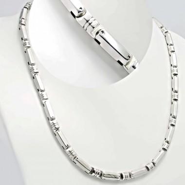 Ocelový náhrdelník Andre Nicol -  Shiny Rollers (4126)