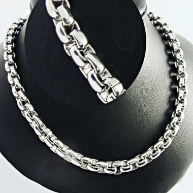 Ocelový náhrdelník ANDRE NICOL - Rings / Shiny / 5mm  (4093)