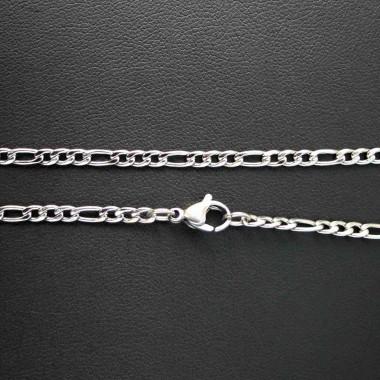 Ocelový řetízek - Figaro 3 mm