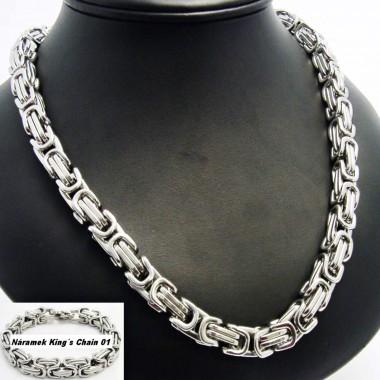 Ocelový náhrdelník - Královská vazba / King´s Chain 01