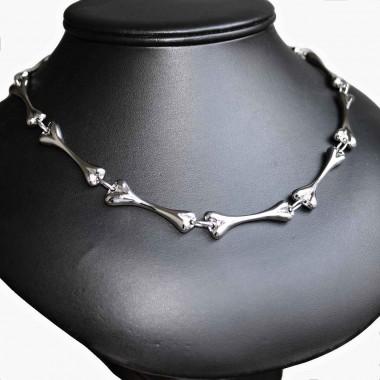 Ocelový náhrdelník - Kosti / Bones I.
