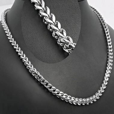 Ocelový řetízek EXEED - Řetěz / Hranol (1269)