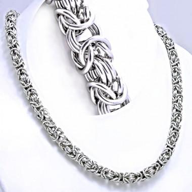 Ocelový náhrdelník - Bizantská / Královská vazba / King´s Chain (1072)