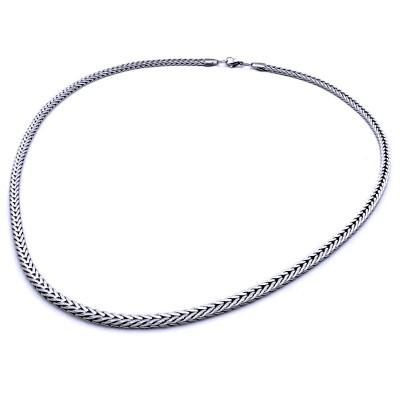 Ocelový Náhrdelník - Pletený hranol 0,5 cm (9711)