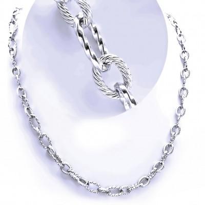 Ocelový náhrdelník - Elegantní Řetěz (9807)