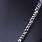 Ocelový náhrdelník - Hranol Figaro 4 mm (9867)