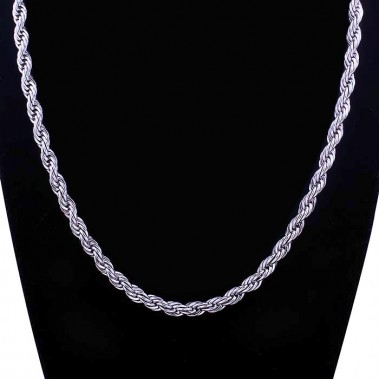 Ocelový náhrdelník - Valis Twist 5 mm (9924)