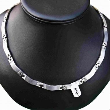 Ocelový náhrdelník EXEED - Vlnky / Waves / Matt - Shiny (P1020)
