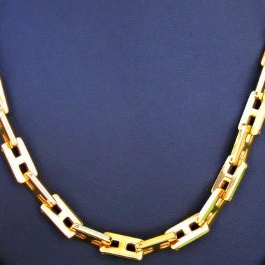 Ocelový náhrdelník EXEED - Řětěz / Zlacený IPG (P043)