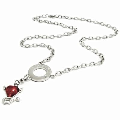 Ocelový náhrdelník EXEED - Ďábelské Srdce / Devilish Heart (1309)