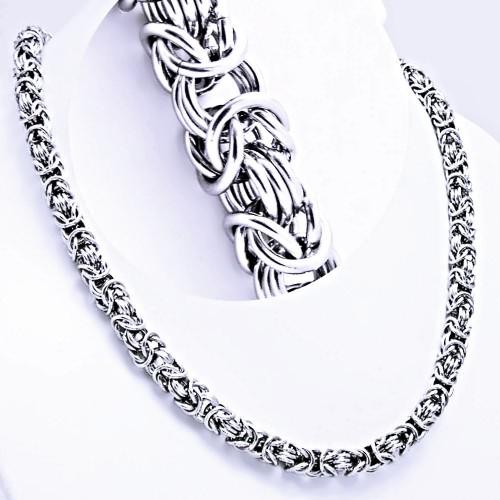 d24521281 Ocelový náhrdelník EXEED - Bizantská / Královská vazba / King´s Chain (1072)
