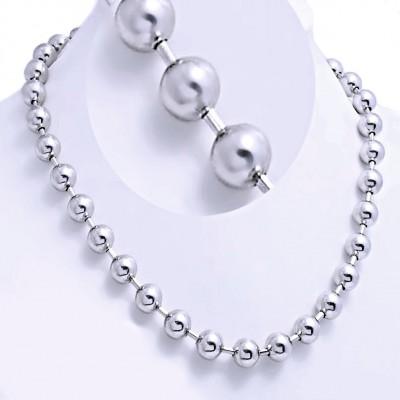 Ocelový náhrdelník Exeed - Kuličky 1 cm / Balls (1200)