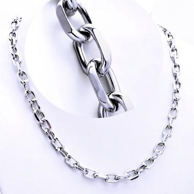 Ocelový náhrdelník EXEED - Anker / Shiny 0,8 cm (9372A)