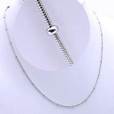 Ocelový Řetízek - Hádě s Kuličkami / Snake / Balls (9311)