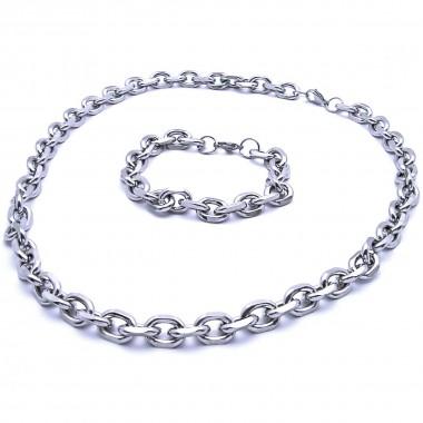 Ocelový Náhrdelník + Náramek - Anker 1,1 cm (9871)