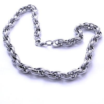 Ocelový náhrdelník EXEED - Pletený Řetěz (018)