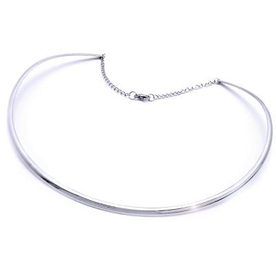 Ocelový náhrdelník - Elegantní Tenká Obruč (9792)
