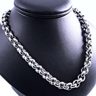 Ocelový náhrdelník EXEED - Rings 1cm (193A)