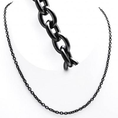 Ocelový řetízek - ANKER / Černý / Black (9815)