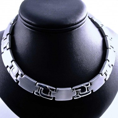 Ocelový náhrdelník Exeed - Plochý / Matt - Shiny (1023)