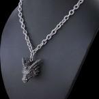 Ocelový náhrdelník - Dračí hlava / Dragonslayer talisman (021)