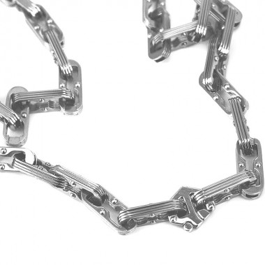 Ocelový náhrdelník - Rivited Chain Of Plates