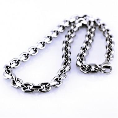 Ocelový náhrdelník - Massive Anker 9 mm (5593)