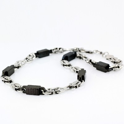 Ocelový náhrdelník - Chain (5115/Black)
