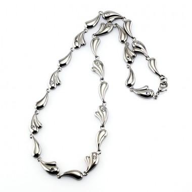 Ocelový náhrdelník - Titanium SW.stones I.