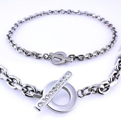 Ocelový Náhrdelník - Elegant Anker  (7131)