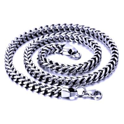 Ocelový náhrdelník - Hranol 0,6 cm / Prism (8150)