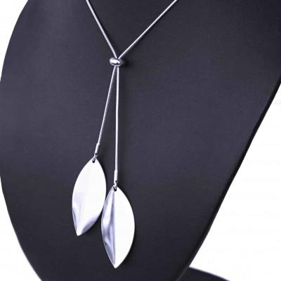 Ocelový náhrdelník - Lístky / Hádě (70054)