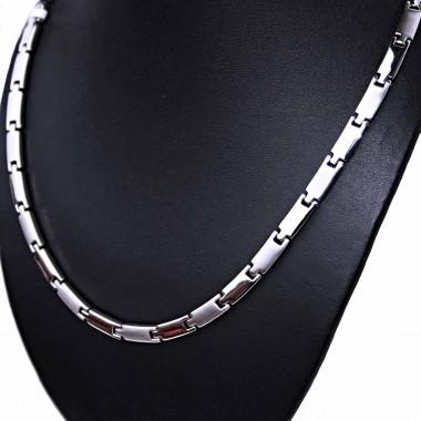 Ocelový náhrdelník - Plochý / Matt - Shiny (70054)