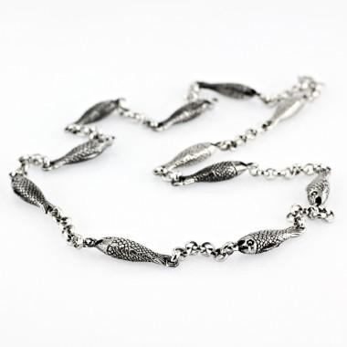 Ocelový náhrdelník - Rybky (1353)