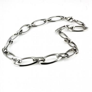 Ocelový náhrdelník - Leštěné Elipsy / Shiny Ellipses (5636)