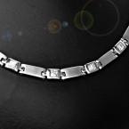 Ocelový náhrdelník - Matt / Shiny / Crystals Sw. comp. (7291)