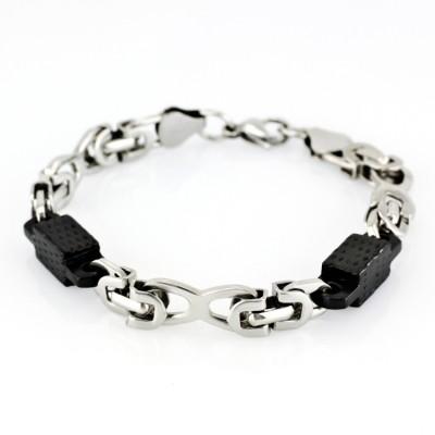 Ocelový náramek - Chain (5115/Black)
