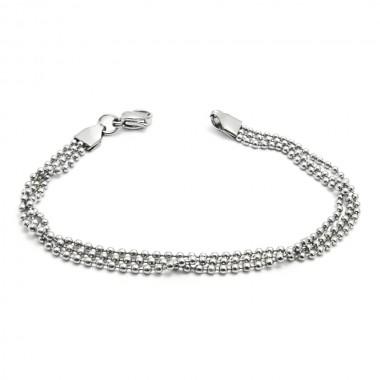 Ocelový náramek - Kuličkové řetízky / Ball Chains (665)