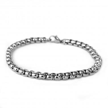 Ocelový náramek EXEED - Kroužky 6 mm / Rings / lesk (7263)