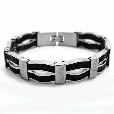 Ocelový náramek EXEED - Kaučuk / Shiny/ Matt (4770)