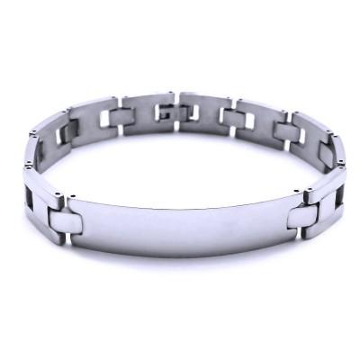 ocelový náramek - leštěný / Destička (41448)