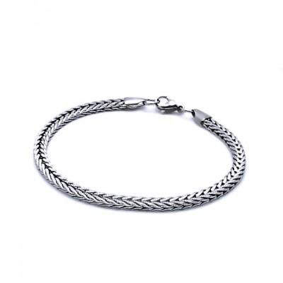 Ocelový Náramek - Pletený hranol 0,5 cm (9711)