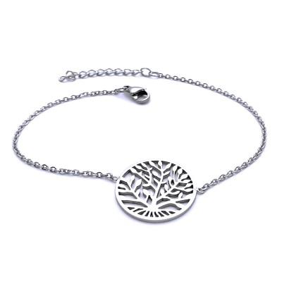 Ocelový náramek - Strom Života (8748)