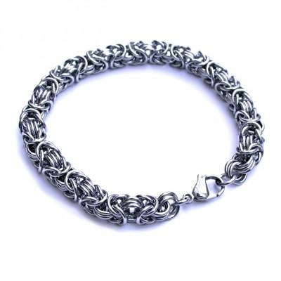 Ocelový náramek EXEED - Bizantská vazba / Bizantine chain (540)