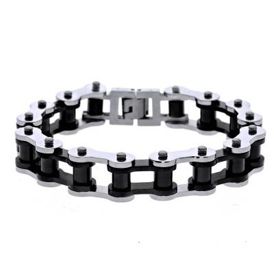 Ocelový náramek - R Chain / Black / Shiny (8111)