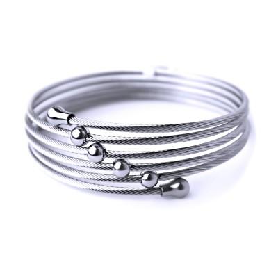 Ocelový náramek - Spiral String / Shiny (70078)