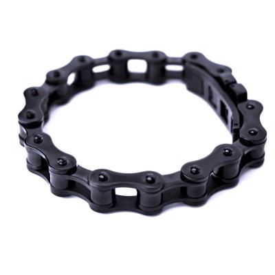 Ocelový náramek - Řetěz / Chain / Black (8066)