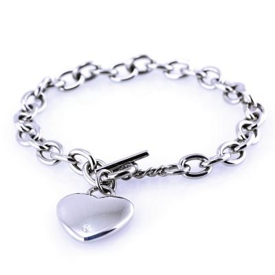 Ocelový náramek PRIM - Srdce / Heart / Stone Swar.cr. (6176)