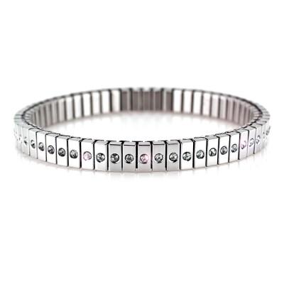 Ocelový náramek - PRIM / bílé kameny / Crystals PRECIOSA  (6390)