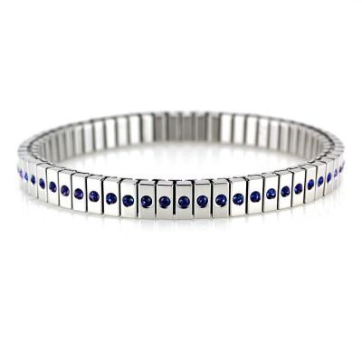 Ocelový náramek - PRIM / modré kameny / Blue Crystals PRECIOSA  (7943)